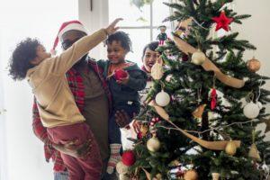family enjoying the holidays together